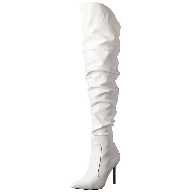 CLASSIQUE-3011 blanc cuissardes pleaser sexy taille 36 - 37
