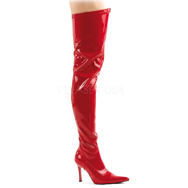 Botte Femme à talons hauts femmes lacent rouge taille36 E1525qSNiU