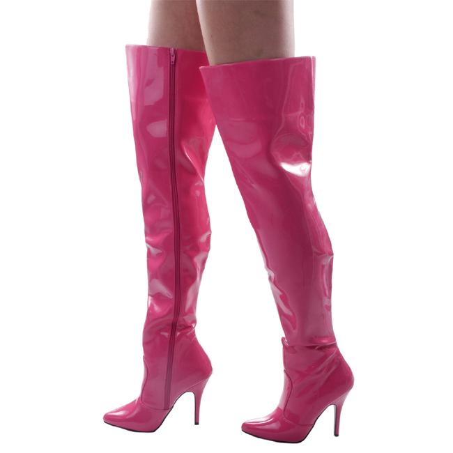 SEDUCE-3010 rosa verni bottes cuissardes pleaser taille 36 - 37