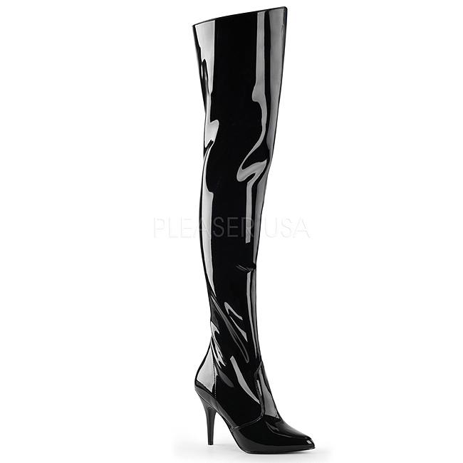 VANITY-3010 noir verni cuissardes femme pleaser taille 38 - 39
